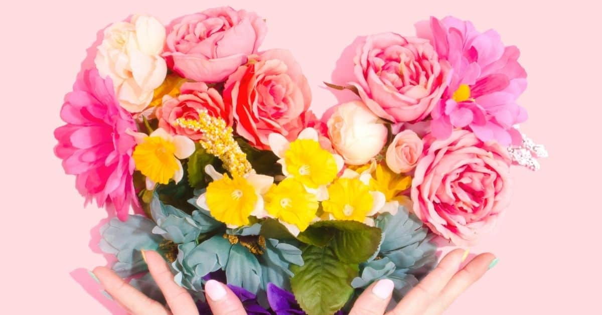 Fresh flowers bring happiness