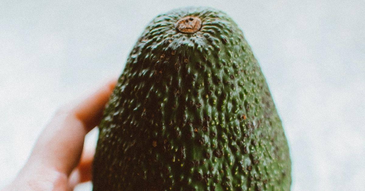 Fresh, ripe homemade avocados