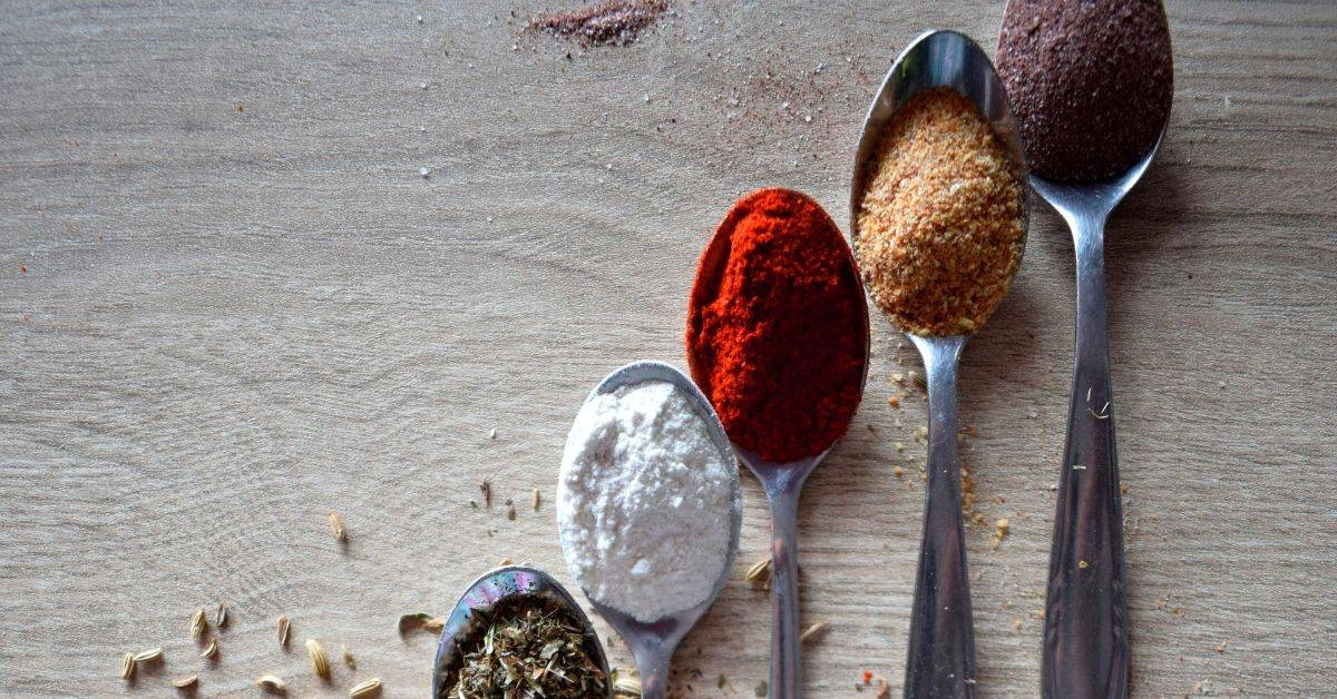 Ground cumin spices used in Mexican dishes.