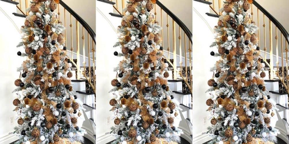 leopard christmas decorations