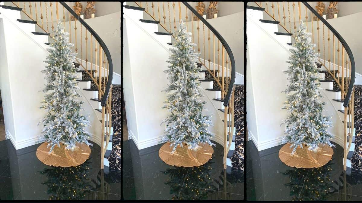 best flocked christmas tree