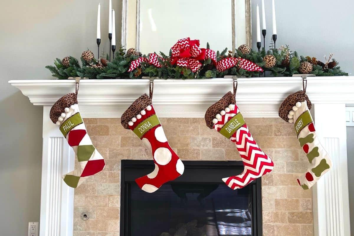 best leopard christmas stockings