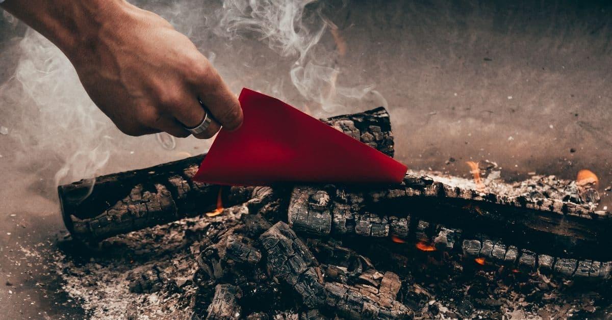 let go fire burn letter