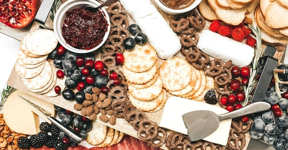 cheese charcuterie board present
