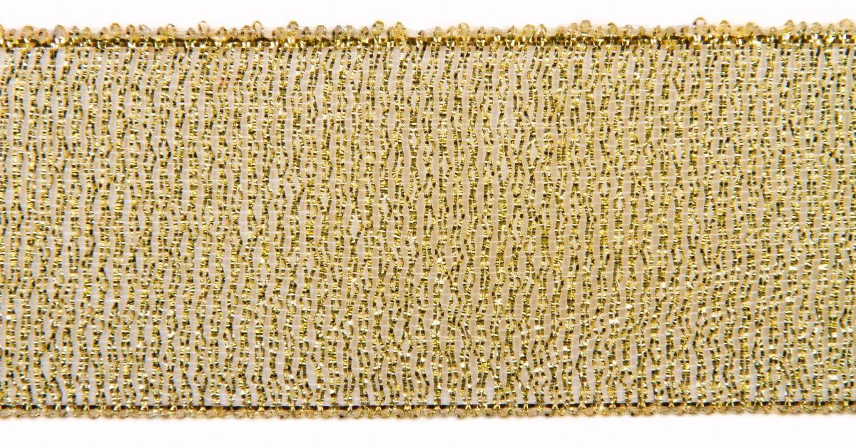 gold mesh christmas ribbon