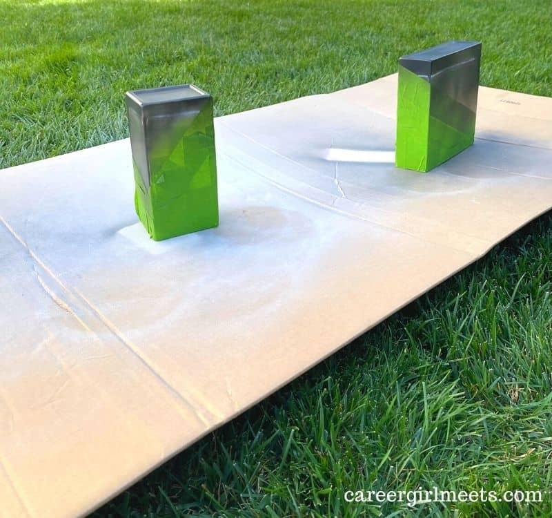 Spray paint glass