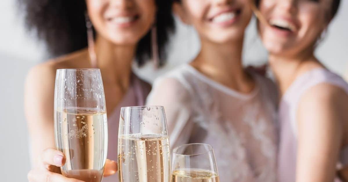 champagne glass mom gift