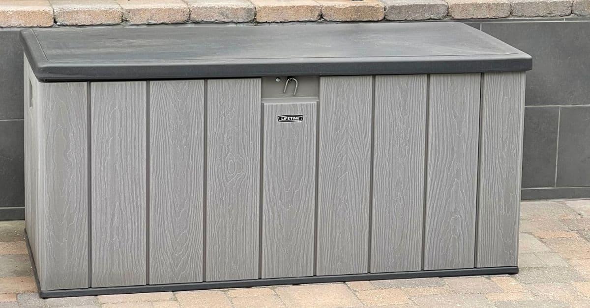 DECK BOX for backyard storage.