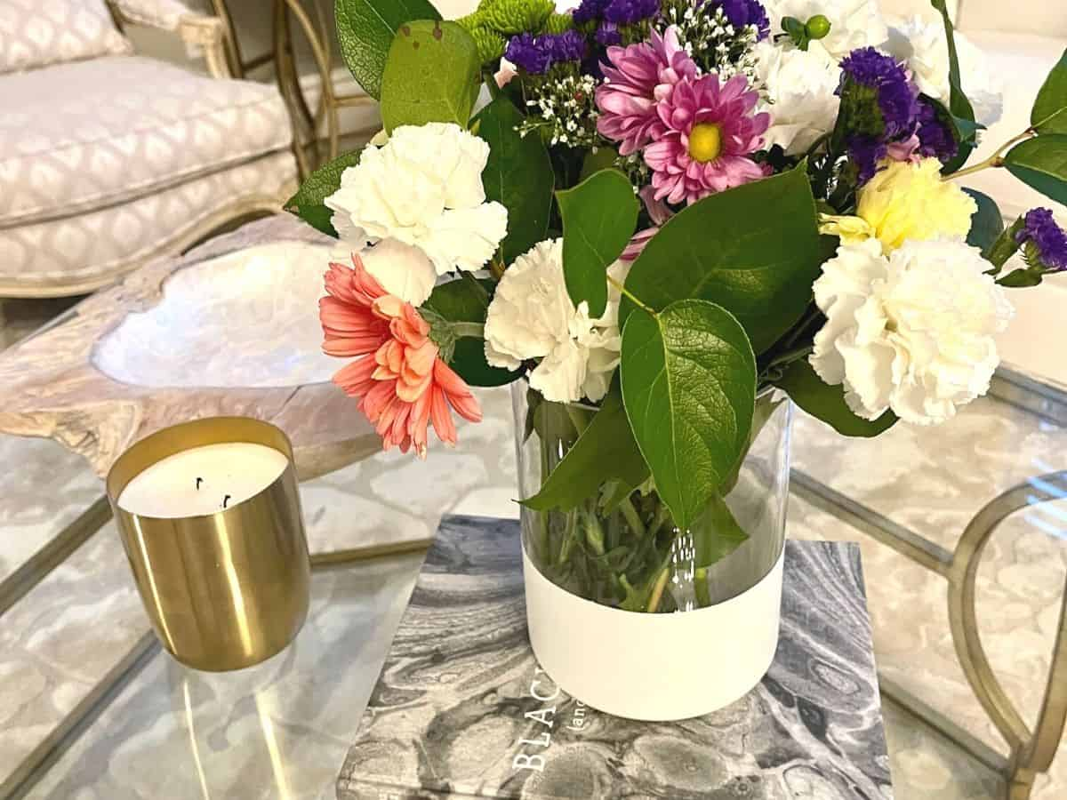 glass vase paint diy