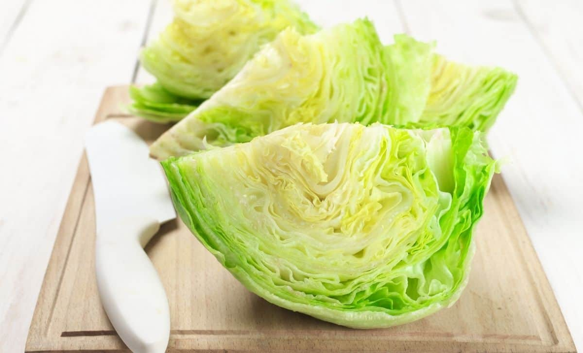 cut iceberg lettuce