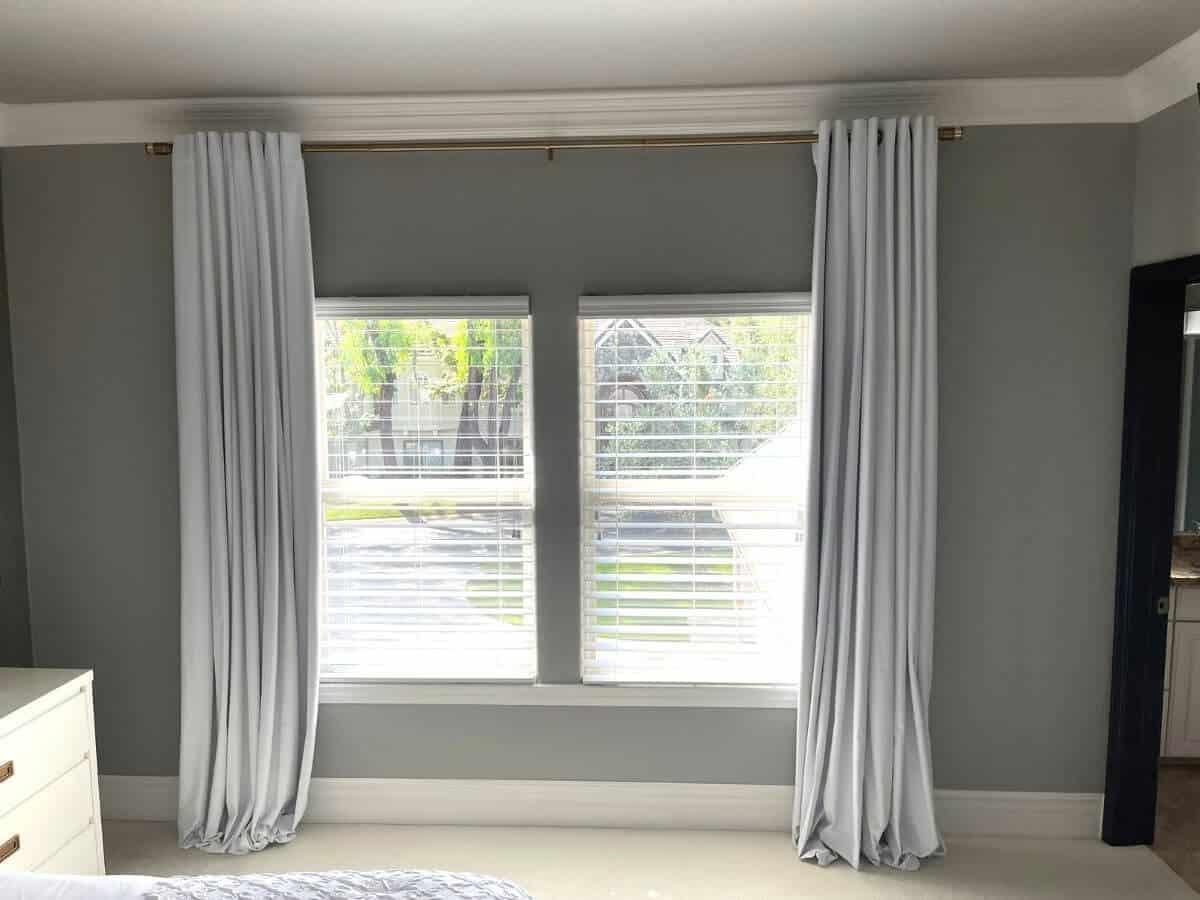 hang curtains